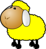 Yellow Sheep Clip Art