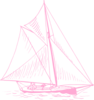 Pink Sailboat Clip Art