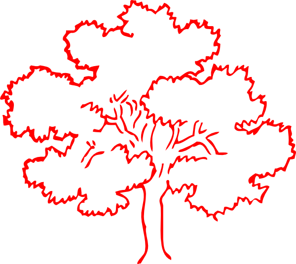 Red Oak Tree Silhouette Clip Art at Clker.com - vector ...