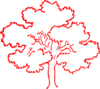 Red Oak Tree Silhouette Clip Art