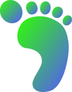 Green/blue Right Foot Clip Art