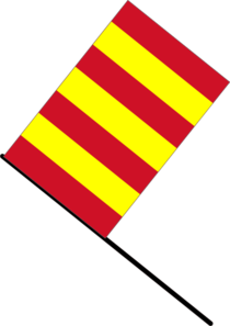 Yellow/red Stripped Flag Clip Art