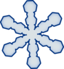 Simple Snowflake Clip Art