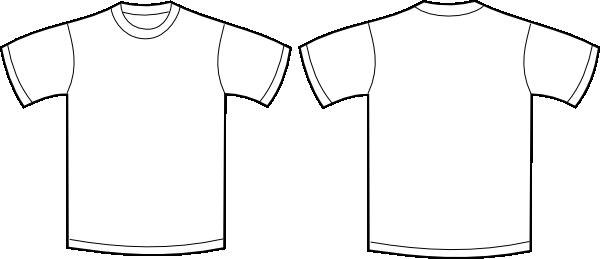 tshirt front amp back clip art at clkercom vector clip