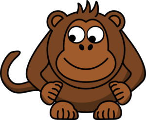 Monkey Looking Left-down Clip Art