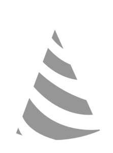Party Hat Grey White Clip Art