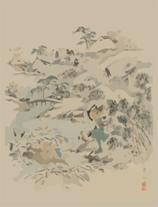 [jūichidanme - Act Eleven Of The Chūshingura - Searching The Grounds] Clip Art