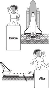 Gravity Comparison Clip Art