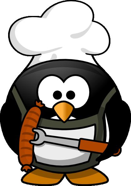 Bbq penguin clip art at vector clip art online - Clipart cuisine gratuit ...