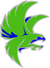 Green Falcon 1 Clip Art