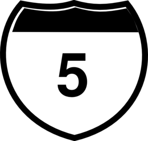 Interstate Sign I 5 Clip Art
