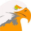 Bright Orange Eagle Clip Art