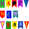 New Year Flags  Clip Art
