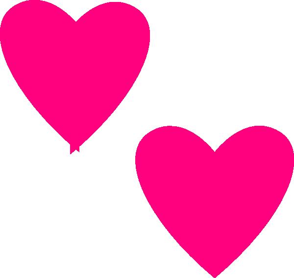 Hot Pink Double Hearts Clip Art at Clker.com - vector clip art ...