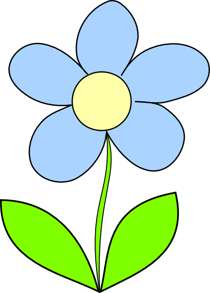 Light Blue Flower Clip Art At Clker Com Vector Clip Art