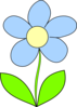Light Blue Flower  Clip Art