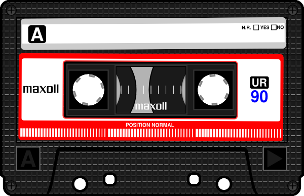 Cassette Tape Player Clip Art Cassette clip art - vector