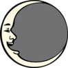 Moon Smiley Clip Art
