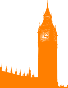 Orange Big Ben Clip Art