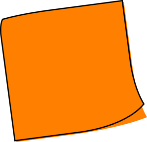 Orange Sticky Note Clip Art at Clker.com - vector clip art ...