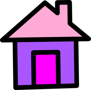 House In Pink And Purple Clip Art