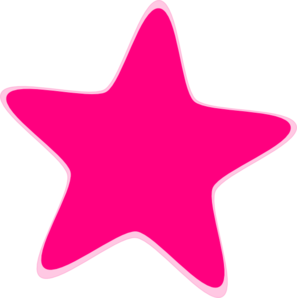 Hot Pink Star Clip Art