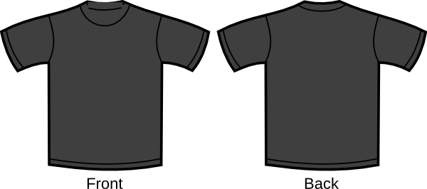 blank grey t shirt clip art at vector clip art online royalty free public domain. Black Bedroom Furniture Sets. Home Design Ideas