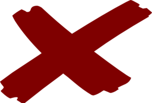 X Marks The Spot Clip Art