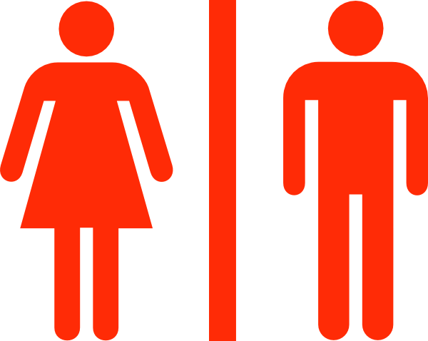 Bathroom Sign Vector Amusing Large Man Woman Bathroom Sign Vector Clip Art At Clker . Inspiration Design