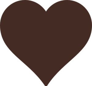 Brown Heart Clip Art at Clker.com - vector clip art online, royalty ...