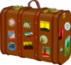 Suitcase With Stickers Clip Art