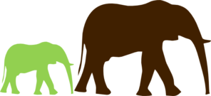 Mom And Baby Elephant Clip Art