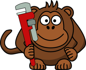 cartoon monkey with wrench clip art at clker com vector clip art