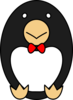 Penguin Wearing Bowtie Clip Art