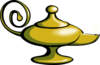 Magic Lamp - No Fire Clip Art