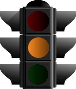 Amber Traffic Light 2 Clip Art