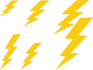 Thunder Bolt Plain Clip Art
