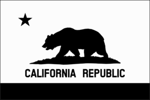 Black And White California Flag Clip Art