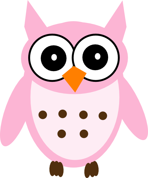 pink owl clip art at clker com vector clip art online royalty rh clker com cute pink owl clip art pink owl on branch clip art