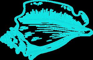 teal light conch shell clip art at clker com vector clip art rh clker com conch shell clip art free