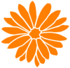 Dahlia Orange Clip Art