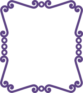 Scrolly Frame New Purple Clip Art