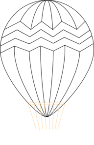 Hot Air Balloon Black And White Clip Art
