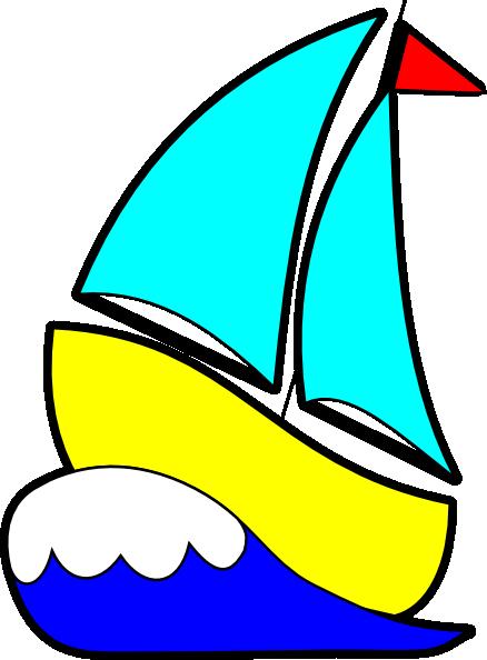Bigger Sailboat Clip Art at Clker.com - vector clip art ...