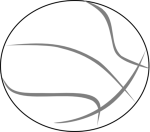 Basketball Grey Outline Clip Art