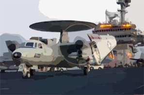 E-2c Hawkeye Maneuvers The Flight Deck Aboard Uss Kitty Hawk Cv 63 Clip Art