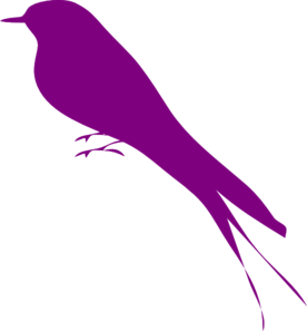 Purple Bird Clip Art