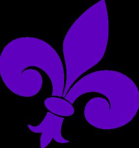 Purple Fleur De Lis On Angle Clip Art at Clker.com - vector clip ...