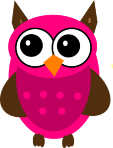 baby shower pink owl clip art at clker com vector clip art online rh clker com pink owl clip art free pink and brown owl clip art