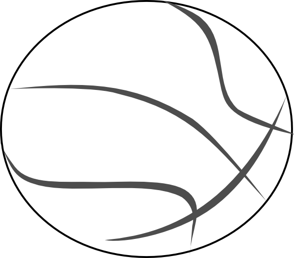 basketball outline clip art at clker com vector clip art online rh clker com basketball clipart black and white free black and white clipart of a basketball